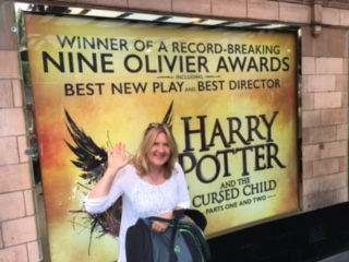 The author at the West End production of Harry Potter and the Cursed Child.